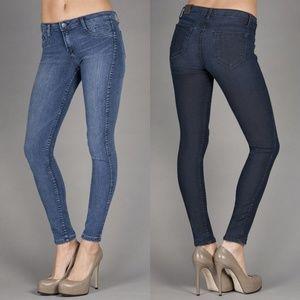 bleulab Jeans - BLEULAB 5 pocket jegging reversible jean skinny491